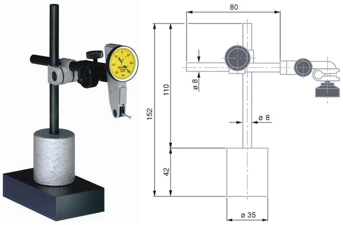 Купить стойка для микрометров тип 15стм крин